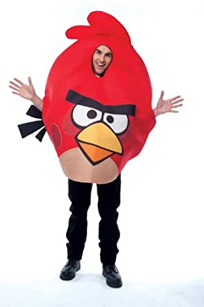 Paper Magic Unisex - Adult Angry Birds Costume, Red, One Size