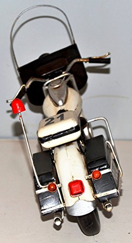 Police Motorcycle HD Red Tin Blechmotorrad Blechmodell For Collectors Tin Model Vintage Motorbike Motorcycle Bike 37405 approx. 35 CM