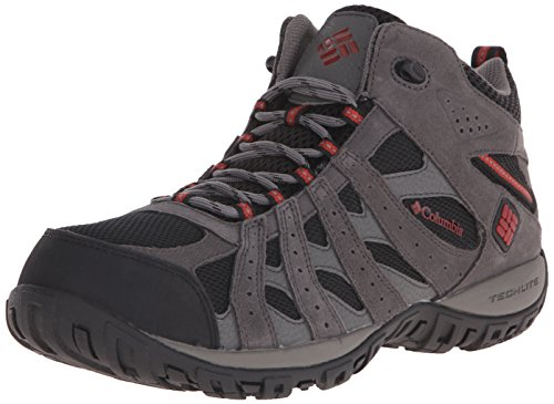 Columbia Men's Redmond Mid Waterproof Trail Shoe, Black/Gypsy, 9 D US