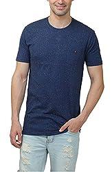 Hash Tagg Men's Cotton T-Shirt HT-3006_Navy Blue_M