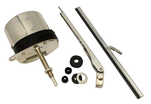12V STAINLESS WINDSHIELD WIPER MOTOR KIT STREET RAT ROD JEEP CHEVY MOPAR FORD (Utv Windshield Wiper compare prices)