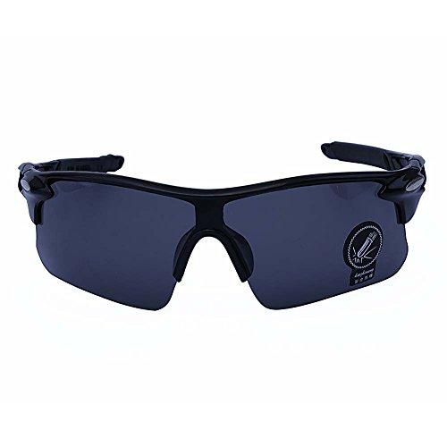 Outdoor Sports Athlete's Sunglasses UV protection (Black Frame, Black Lens) (Sun Glasses Outdoor Sports compare prices)