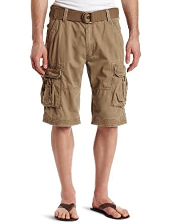 Levi's Mens Belted Spike Cargo Short, Cougar, 28