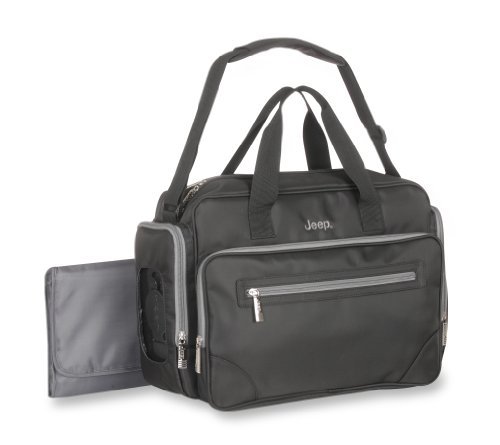 Jeep Perfect Pockets Duffle Diaper Bag, Black - 1