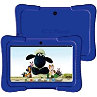 """NEW LIMITED OFFER BTC® KID-PROOF UK 7"""" Tablet PC Powerful Quad Core ATM7029C CPU, Google Android 4.4 KitKat, Dual Camera, HDMI, Bluetooth, 1024x600 Multi-touch Screen, 8GB Nand Flash, Google Play Pre-loaded, WiFi, HDMI, 3D Game Supported (blue)"""