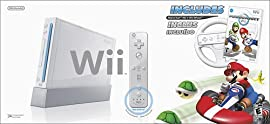 Nintendo Wii Console (White) w/Mario Kart Wii Bundle and Wii Remote Plus