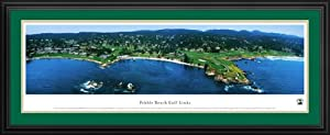 Golf Courses - Pebble Beach Golf Links - Framed Poster Print