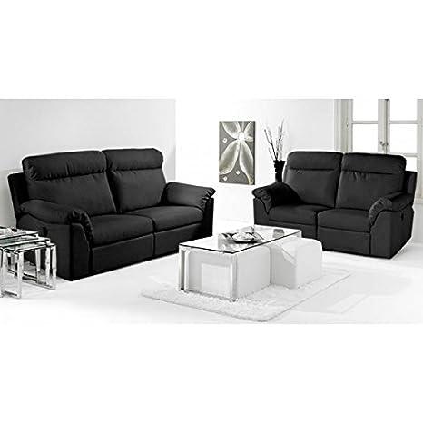 NUEVO HOGAR - Sofá 2 plazas extraible nuevo hogar 86 x 166 cm - 2000460024523 - Negro