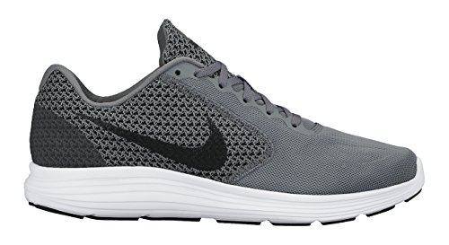 nike-mens-revolution-3-cool-grey-black-white-running-shoe-11-men-us