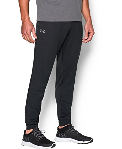 Under Armour Men's Tricot Pants - Tapered Leg, Black (001), Large