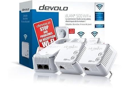 Devolo 9572 DLAN 500 WIFI Network KIT Carte Réseau et Adaptateurs Ethernet, Compatible Norme Wifi 802.11b, Compatible Norme Wifi 802.11g, Plan, Mimo