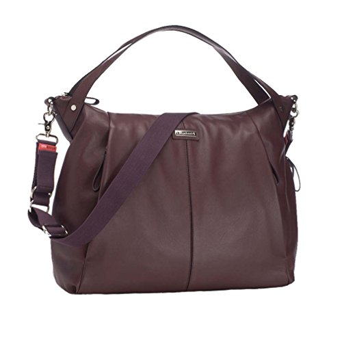 Storksak Catherine Luxury Leather Diaper Bag - Bordeaux - 1