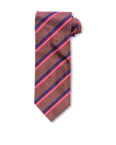 E. Marinella Men's Diagonal Striped Tie, Light Brown
