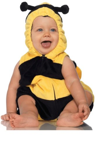Leg Avenue Costume Unisex-baby Bee Hooded Romper with Snap Closure