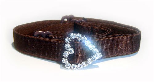 Brown classic strap with Diamond Heart
