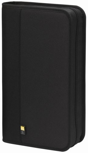 Case Logic BNW-48 Polyester CD/DVD Wallet 48 Capacity (Black)