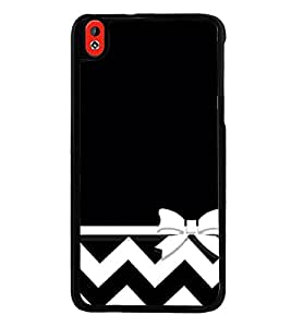 Black and White Pattern 2D Hard Polycarbonate Designer Back Case Cover for HTC Desire 816 :: HTC Desire 816 Dual Sim :: HTC Desire 816G Dual Sim