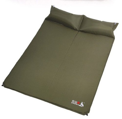 Lightweight self inflating 2 person camp pad mattress with for Best mattress for lightweight person