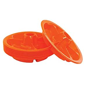 The Go Plate-Orange-021c-10 Pack