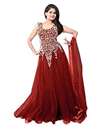 Bhavya Enterprise Lollipop Maroon Net Gown