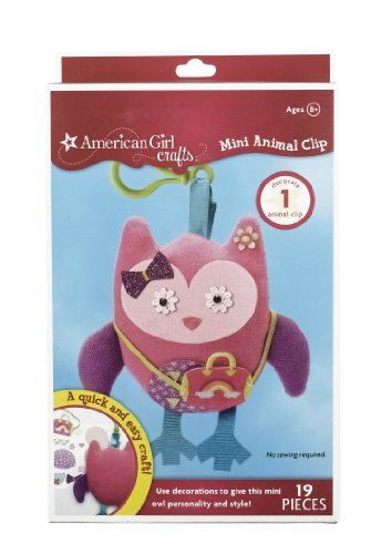 American Girl Crafts Mini Animal Clip, Owl