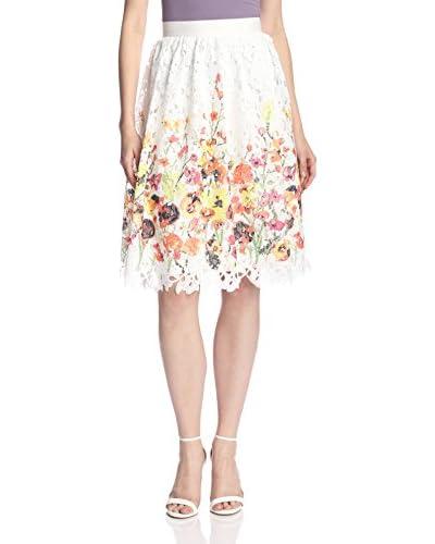 Badgley Mischka Women's Printed Lace Skirt