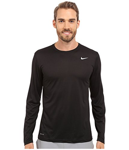 New Nike Men's Legend 2.0 L/S Training Top Black/Black/Matte Silver Small