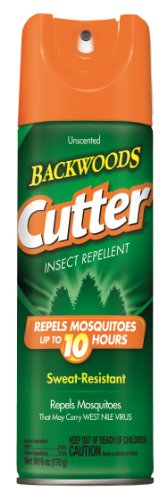Cutter 53655 6 Oz Unscented Backwoods Insect Repellent Aerosol 23% Deet
