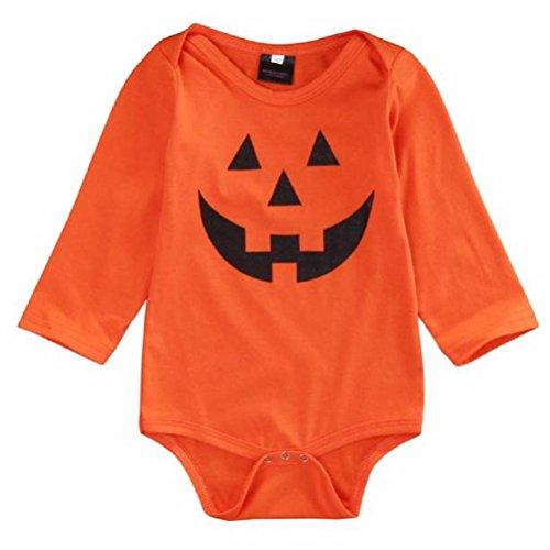 [Sunward(TM) Baby Girls Boy Halloween Devil Romper Coverall (Size:12M, Orange)] (Devil Girl Outfit)