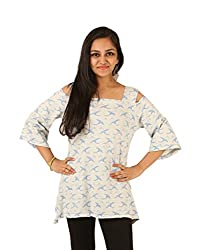 INDRICKA Grey colour 100% Organic Cotton Top for womens.