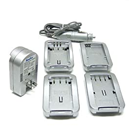 Maximal Power FC100 FUJ/PEN Universal All In One Camera Travel Charger for Fuji/Pentax Battery (Silver)