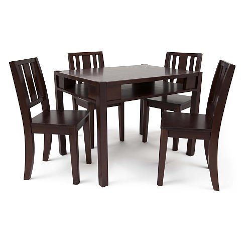 Solutions By Kids R Us Storage Table And 4 Chairs Espresso front-671361
