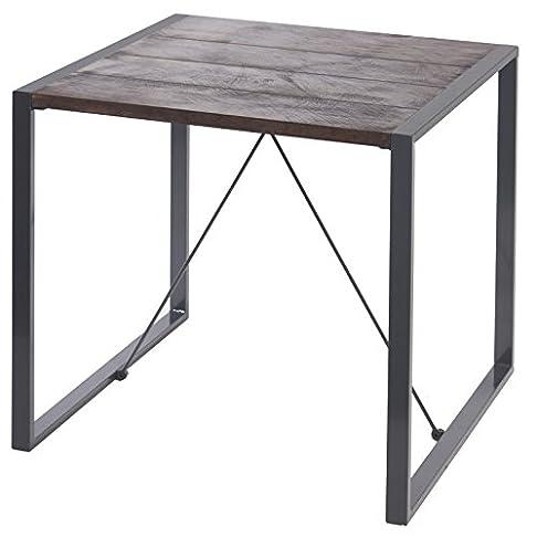 indhouse–Tavolo di ristorante loft stile industriale in metallo e legno Bristol