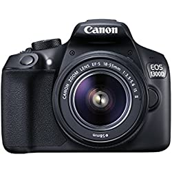 Canon EOS 1300D 18MP Digital SLR Camera with 18-55mm Lens - Black