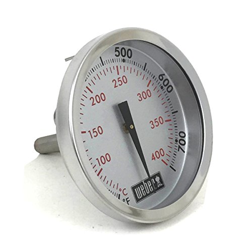 Weber Replacement Thermometer 67731, Center Mount, 2-3/8