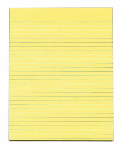 TOPS The Legal Pad Legal Pad, 8-1/2 x 11 Inches, Gum-Top, Canary, Legal/Wide Rule, No Margins, 50 Sheets per Pad, 12 Pads per Pack (7524)