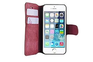 JAMMYLIZARD | Wildleder Tasche Hülle für iPhone 5 und 5S, LILA