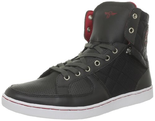 Creative Recreation, Sneaker uomo, Noir (Charcoal Black Red), 40