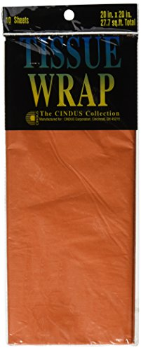 "Tissue Wrap 20""X20"" 10/Pkg-Orange - 1"