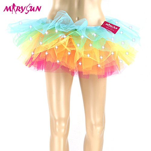 MARYSUN Led Light Up Neon Tutu Skirt for Girls.