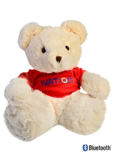 Ivation Ivtebtr Wireless Bluetooth Cozy Teddy Bear Speaker For Android Phones, Iphones, Ipod And Other Mp3 Players (Red)