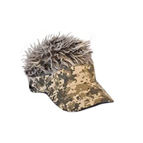Flair Hair Gray Hair Visor, Camo