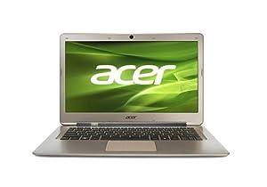 acer ノートPC 13.3インチ Corei3-2377M 4GB 500GB Win7HP64bit ゴールド S3-391-H34D