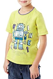 Pure Cotton Robot Print T-Shirt [T88-2703M-S]