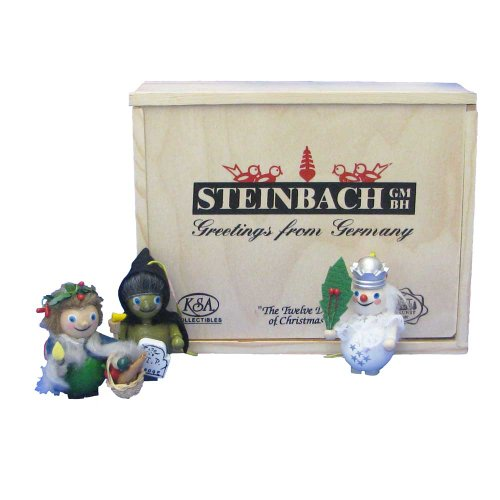 Steinbach Kurt Adler Christmas Carol Ghosts of Present Past and Future Ornament, Set of 3