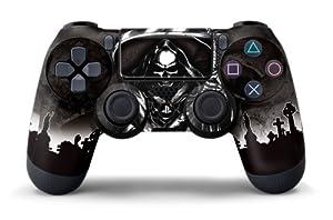 PS4 Controller Designer Skin for Sony PlayStation 4 DualShock Wireless Controller - Reaper Black