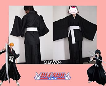 Japanese Anime BLEACH Death Cosplay Costume Shinigami Kimono Specifications--Size S