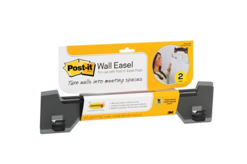 Post-it Wall Easel, 15 x 3-1/4 x 1-1/4-Inches, Smoke Grey, 2-Pack