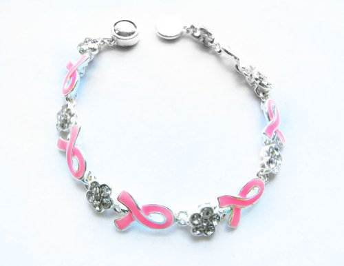 Icon Collection Silver - Plated Breast Cancer Awareness Bracelet