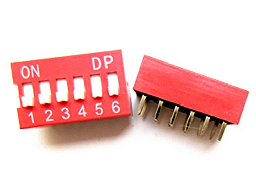 New Arrival!!! Limited Sale!!!Lot Of 10 X 6 Position Dip Switch